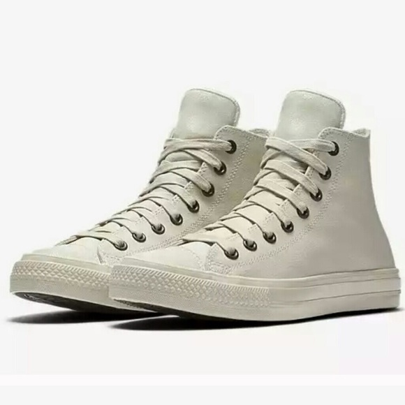 cream leather converse Online Shopping